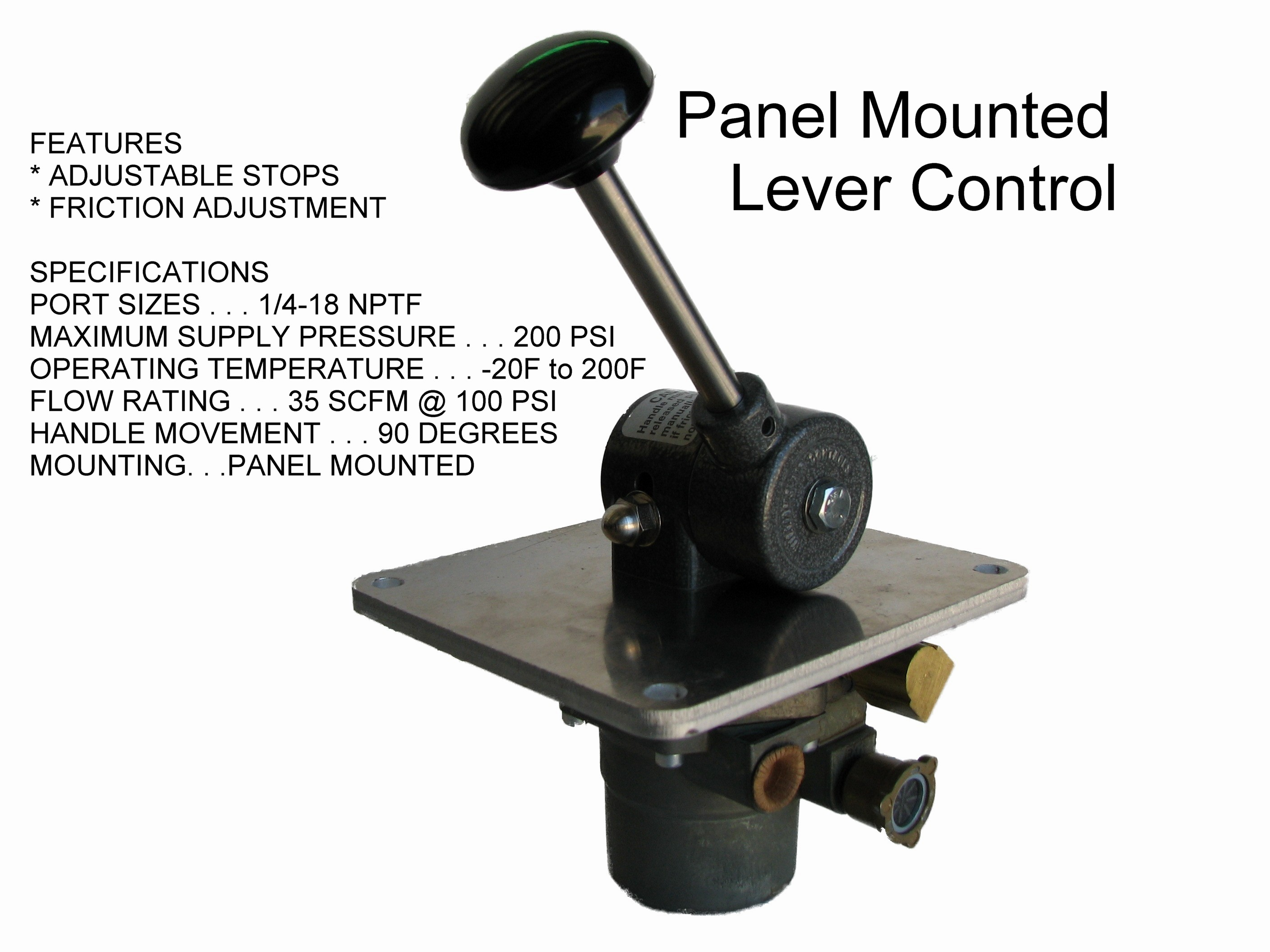 Friction Control Lever : Air throttle